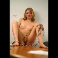 Blondy Masturbating