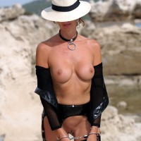 Gangsta Doll Next Part - Heels, Navel Piercing, Shaved, Sexy Lingerie , Hannah Is A Very Bad Girl In Showing Off With Her Guy's Hat. She Is Certainly Going To Be Punished For That!