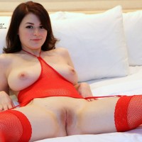 Caught in The Act... - Brunette Hair, Masturbation, Shaved, Toys , Sweet And Innocent Little Kara, Freckled Face And All, Got Caught Sucking On Her Finger...