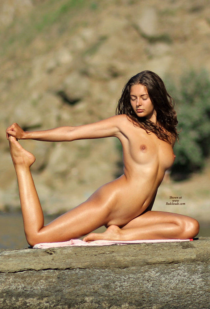 Nude yoga big tits shaved
