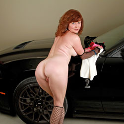 Mustang Love - Big Tits, Redhead, Shaved , What Could Be More Sexier Than A Beautiful Women In A Shelby GT 500
