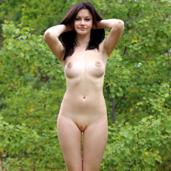 Doggystyle - Brunette Hair, Nude In Public , Model, Nude Model, Brunette, Perfect 10, Flawless Skin, Natural