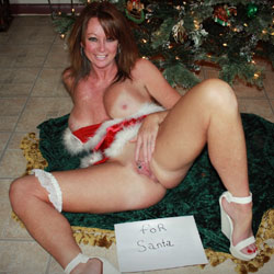 Waiting For Santa - Big Tits, Shaved