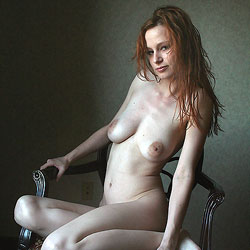 Air-Drying Her Red Hair - Big Tits, Redhead, Shaved , Redhead, Nude, Slut, Big Tits, Freckled Sluts