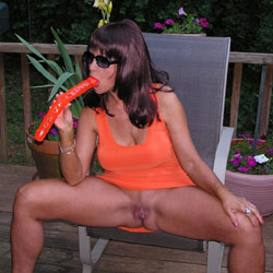 Lets Eat! - Big Tits, Brunette Hair, Masturbation, Nude Outdoors, Toys , Naked, Slut, Nude, Dildo, Masturbation!
