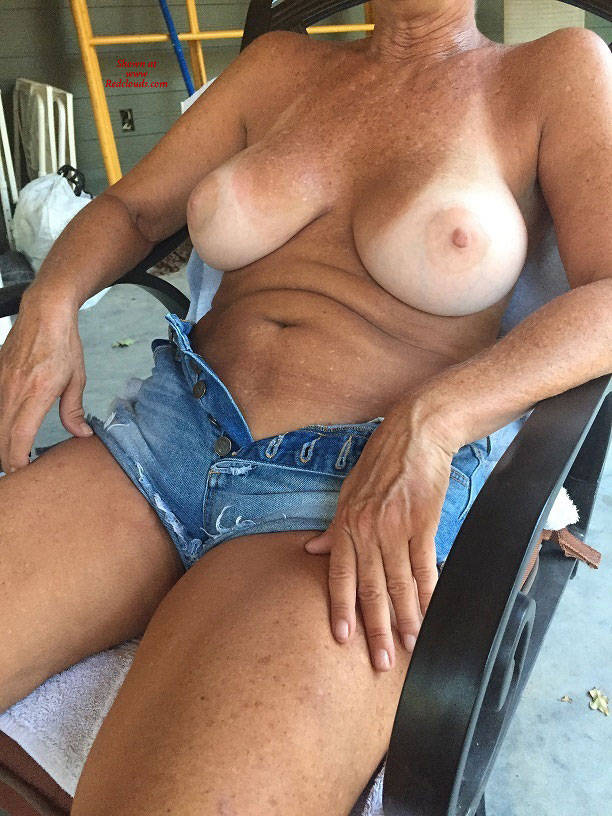 Pic #1My 55 Year Old Showing It All - Big Tits, Shaved, Close-ups, Body Piercings