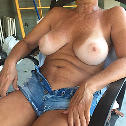 My 55 Year Old Showing It All - Big Tits, Shaved, Close-ups, Body Piercings
