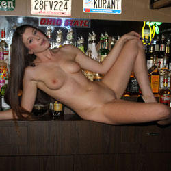 Naked Lady Walks Into A Bar RedClouds Style! - Nude Girls, Brunette, Public Exhibitionist, Public Place, Firm Ass