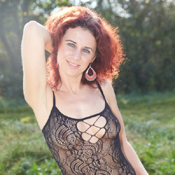 Lena - Fun In The Car - Lingerie, Redhead, See Through, Toys