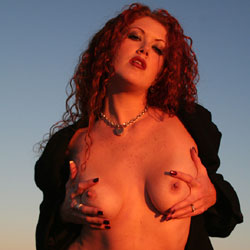 Sunset Stripping - Nude Girls, Big Tits, Outdoors, Redhead, Shaved, Body Piercings