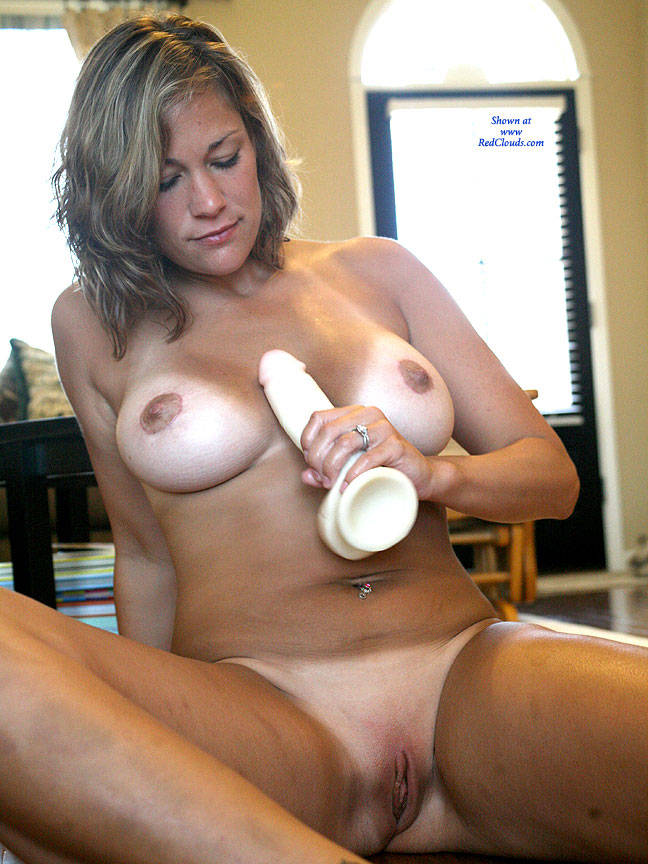 Pic #1Wood Floor Toy - Nude Girls, Big Tits, Brunette, Toys, Shaved