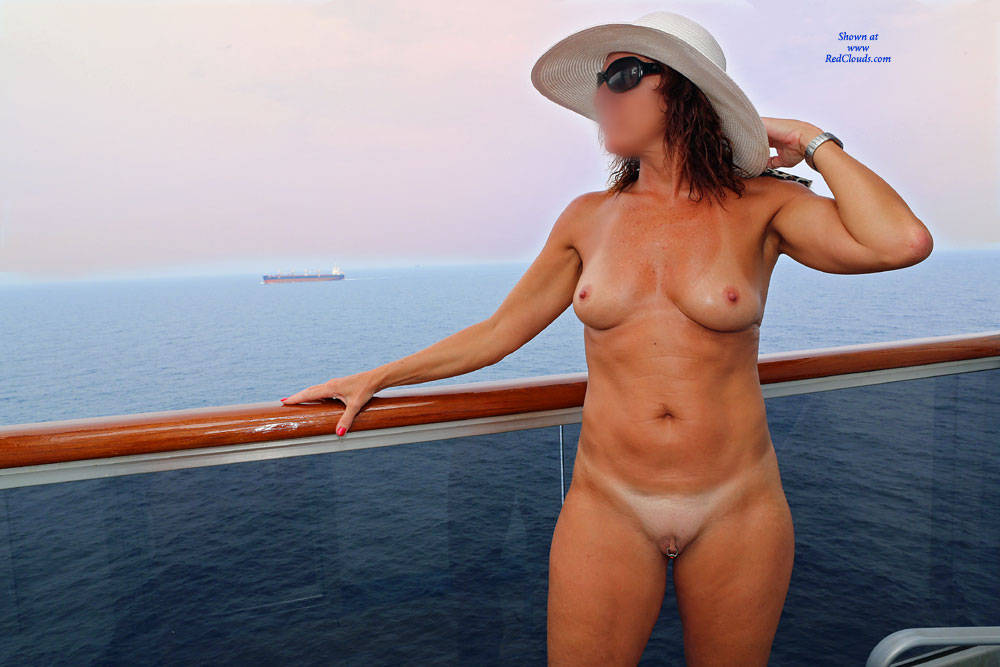 Nude On The Cruise Ship Balcony At RedClouds - Nude cruise ships