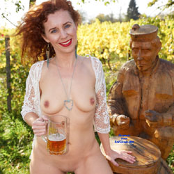 Lena - Autumn Fun - Nude Girls, Big Tits, Lingerie, Outdoors, Redhead, Toys, Shaved