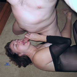 Body Stockings Blowjob - Brunette, Blowjob, Lingerie, Amateur