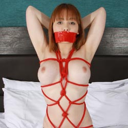 Tied Fun - Big Tits, Redhead, Shaved