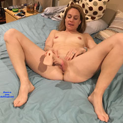 Wife Trying Out A Triple Pronged Vibrator