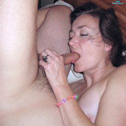 Sucking The Lolly Pop To Get To The Center - Brunette, Blowjob, Amateur