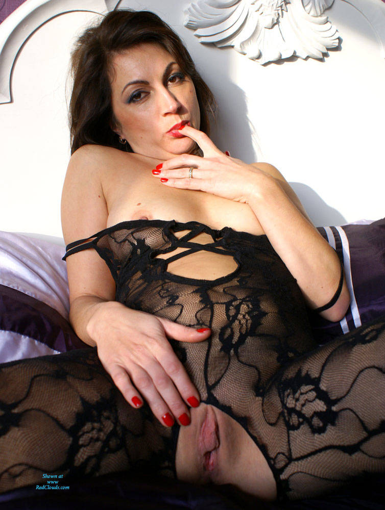 Pic #1Anna (39) Body Stocking - Brunette, Lingerie, See Through, Shaved, Close-ups, Pussy, Amateur