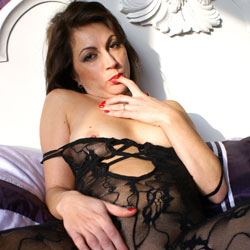 Anna (39) Body Stocking - Brunette, Lingerie, See Through, Shaved, Close-ups, Pussy, Amateur