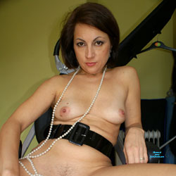 Anna At 40 - Pearls, Belt And Whip - Nude Girls, Shaved, Amateur