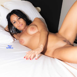 Naked And Relax - Bed, Big Tits, Brunette Hair, Full Nude, Indoors, Naked In Bed, Nipples, Shaved Pussy, Sexy Body, Sexy Boobs, Sexy Face, Sexy Girl, Sexy Legs , Brunette, Big Tits, Shaved Pussy, Sexy Legs