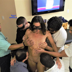 Anniversary Gangbang Part 2 - Nude Girls, Brunette, Group, Shaved, Amateur