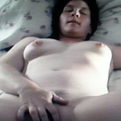 Wife Fingering Herself - Nude Wives, Brunette, Masturbation, Bush Or Hairy, Amateur, Fingering Pics