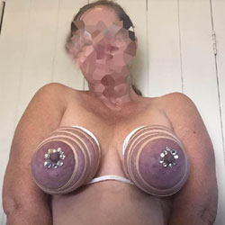 Zip Tied Tits With Sparkles - Big Tits, Amateur, Fetish Pics
