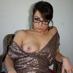 Anna - Sexy Dress - Nude Amateurs, Big Tits, Brunette, Bush Or Hairy, Legs Spread Wide Open